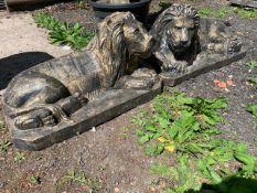 ex-display LARGE PAIR LIONS