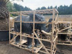 CRATED MASSIVE 8FT LIFESIZE ELEPHANT