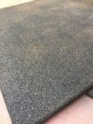 2x 1m x 1m 40mm Thick Rubber Playground Tile