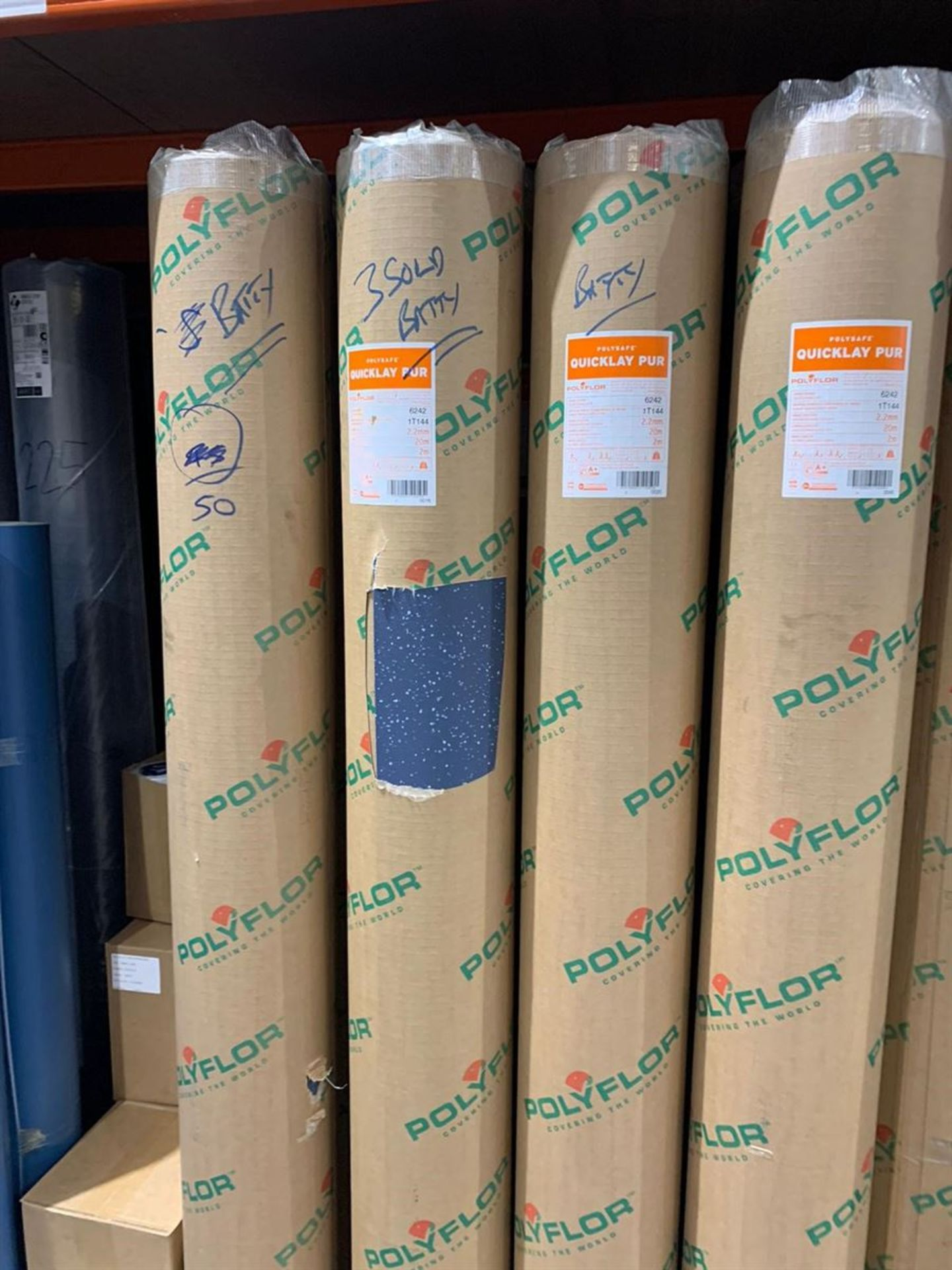 Lot 34 - 20m x 2m Total 40m2 Polysafe Quicklay Blue