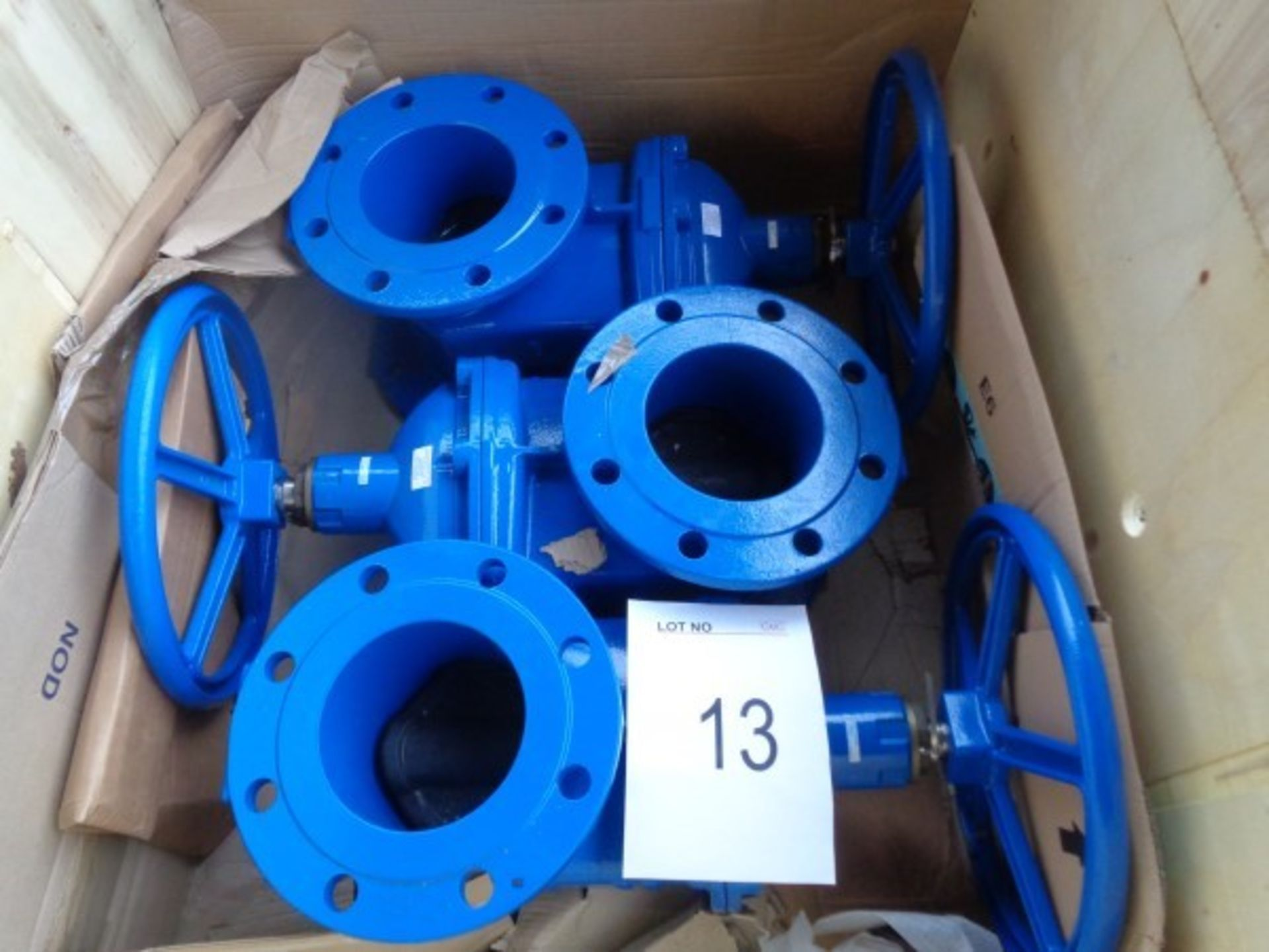3 x Aqua Flow DN150 PN16 res/sg gate valves