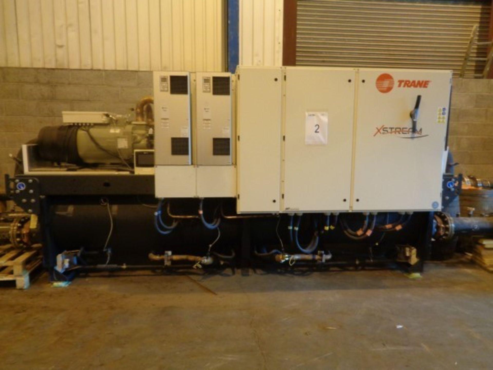 Trane Type RTWF 360HSE heat pump, serial no. ELB6033, 400V-50 HZ-3PH, 928 A Maz, 35KA-ICC-LRA,