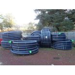 """15 X Rolls of black plastic insulated 4"""" pipe"""