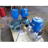 3 x TL model 31 801 electrically controlled three way valves pn 16 dn150
