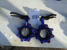 2 x V9912 DN100 PW16 125mm butterfly valves