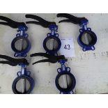 5 x Eura Valves V9911 DN 125 400-15 butterfly valves.