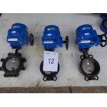 3 x Proval type V101 size DN150 PN16 in - line valves with Electrical Acuator model HQ-015