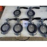 6 x Euro Torc ET W710-7161A GG 25 butterfly valves CF 8m 08