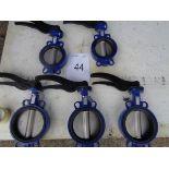 3 x Eura Valves V9911 DN 150 400-15 butterfly valves.2 x Eura Valves V9911 DN 125 400-15 butterfly