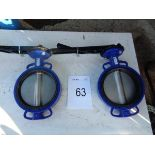 2 x V9912 DN100 PW16 200mm butterfly valves
