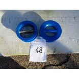 2 x Socla PN10/16 spring loaded duo check valves 125mm.
