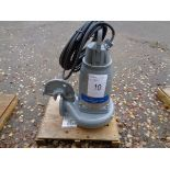 Flygt Xylem type 3153.181 submersible pump, serial no 1910130