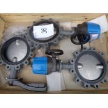 2 x Euro Valve model socla VS 300 909 roo actuated in - line valves 1 x Euro Valve model socla VS