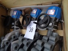 3 x Euro Valve model socla VS 300 909 roo actuated in - line valves