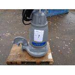 Flygt Xylem type 3171.181 submersible pump, serial no 1910027