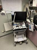 Natus neurology trolley mounted hearing test system with Nicolet AT2 amplifier and Telephonics TDH-