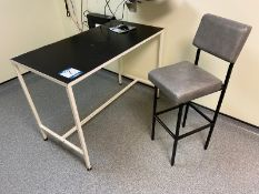 Examination Table 1230mm x 620mm, 3 chairs, twin X-ray white box viewer, Black & Decker Dustbuster