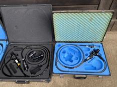 Four Endoscopic kits (AF), Docucenter 24 camera control unit, VES Vet Vision ditto, Sonosite Titan d