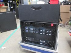 Shure Axiant Digital Radio Rack. To include 2 x AD4D 2 channel digital receivers (470.636 MHz), 4