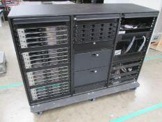 Sennheiser EM 6000 Dante Radio Rack. To include 16 x digital 2 channel UHF receivers, 4 x 4 way belt