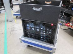 Shure Axiant Digital Radio Rack. To include 4 x AD4D 2 channel digital receivers (470.636 MHz), 4