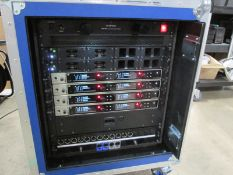 Sennheiser EM 6000 Dante Radio Rack. To include 4 x digital 2 channel UHF receivers, 4 x