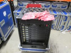 Shure ULXD4D Radio System in Rack Mount Frame. To include 8 x ULXD4D digital wireless receiver (