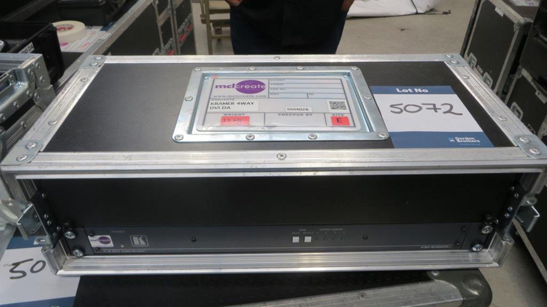 Lot 5072 - Kramer, DVI splitter, input 4 output in transit ca