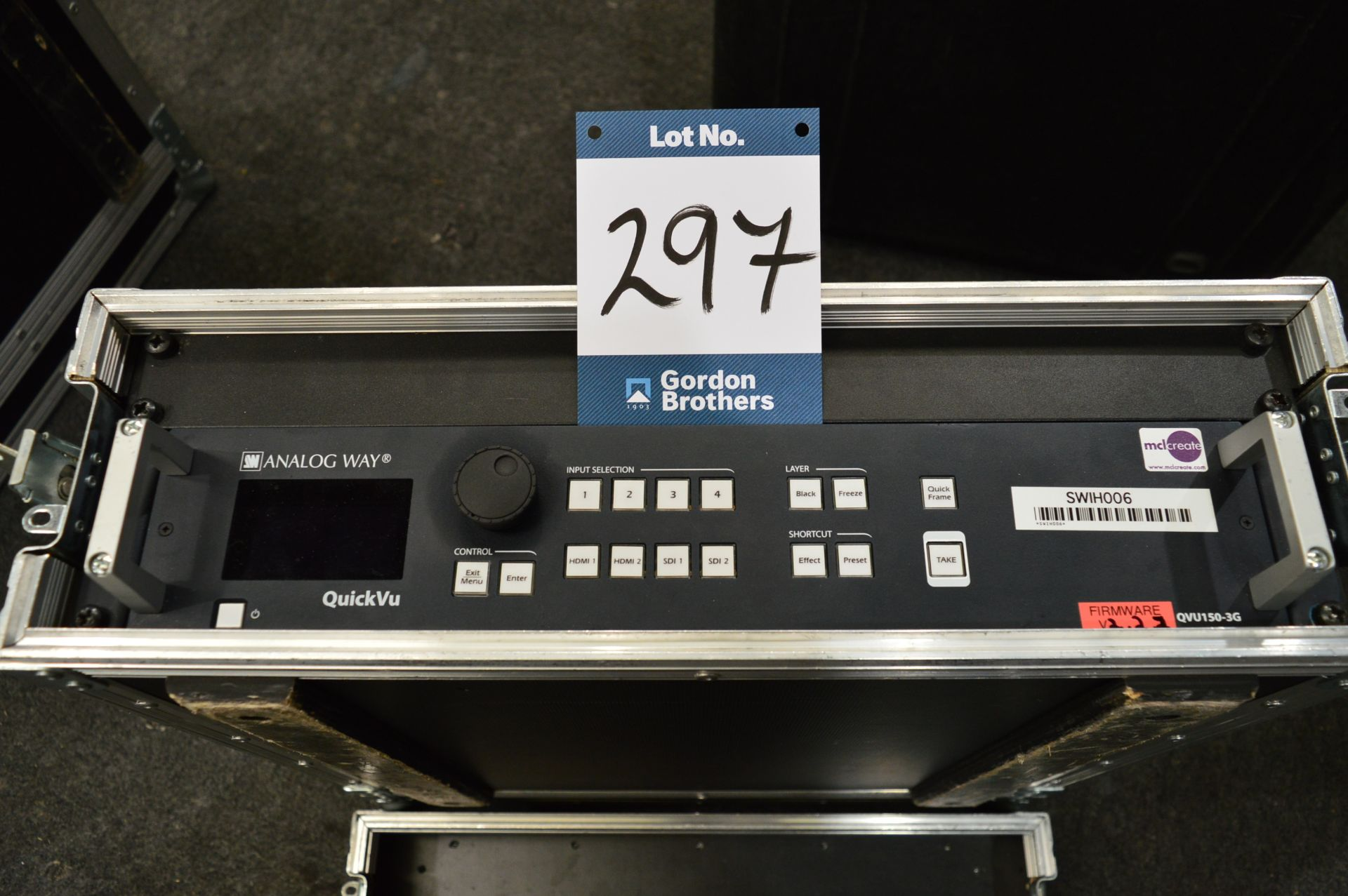 Lot 297 - Analog Way, QuickVu QVU150-2G R/M high resolution