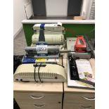 Rexel, CB350 binding machine, Fellowes, laminator,
