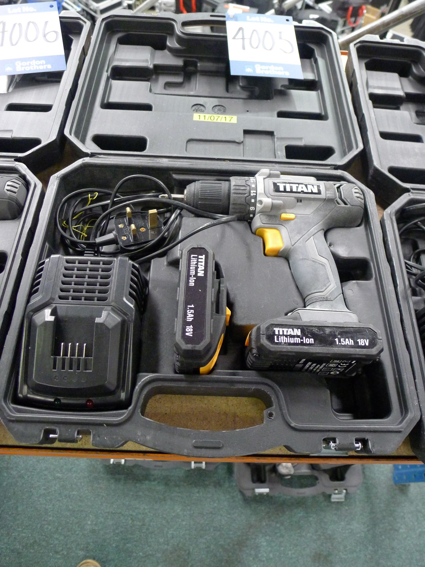 Lot 4005 - Titan 18 V Drill Driver with Charger and Spare Bat
