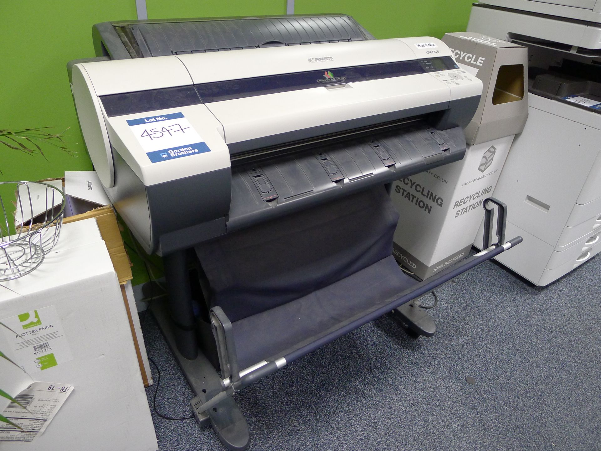 Lot 4547 - Canon Image Prograf IPF605 Wide Format Printer Ser