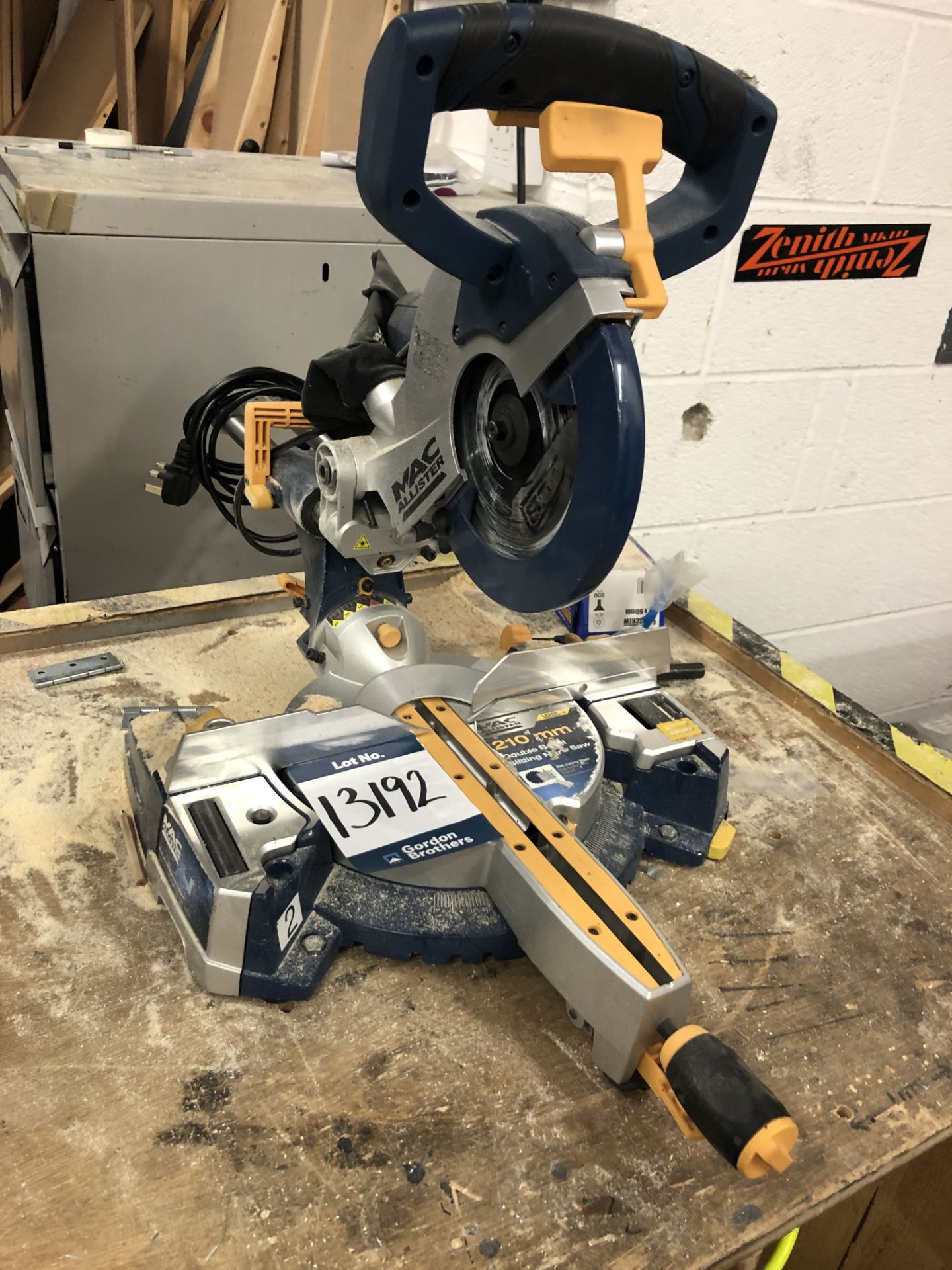 Lot 13192 - MacAlister, 210 double bevel sliding mitre saw (si