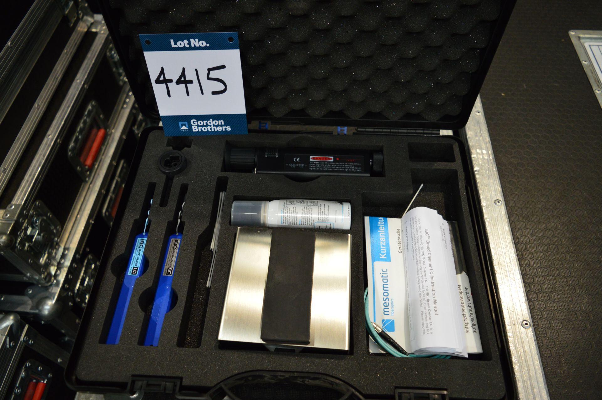 Lot 4415 - Neutrik opticalCON laser mini fibre microscope and cleaning kit in case: Unit 500, Eckersall Road,