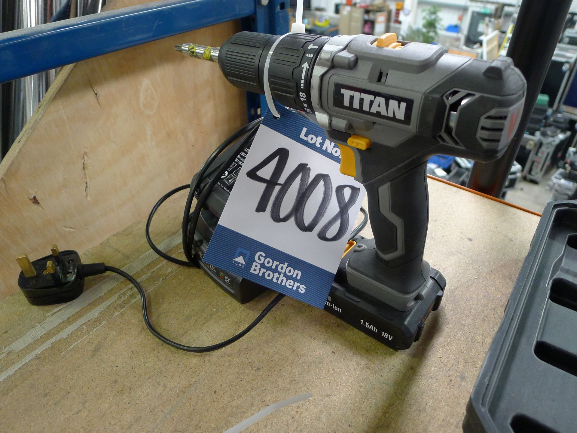 Lot 4008 - Titan 18 V Drill Driver with Charger and Spare Bat