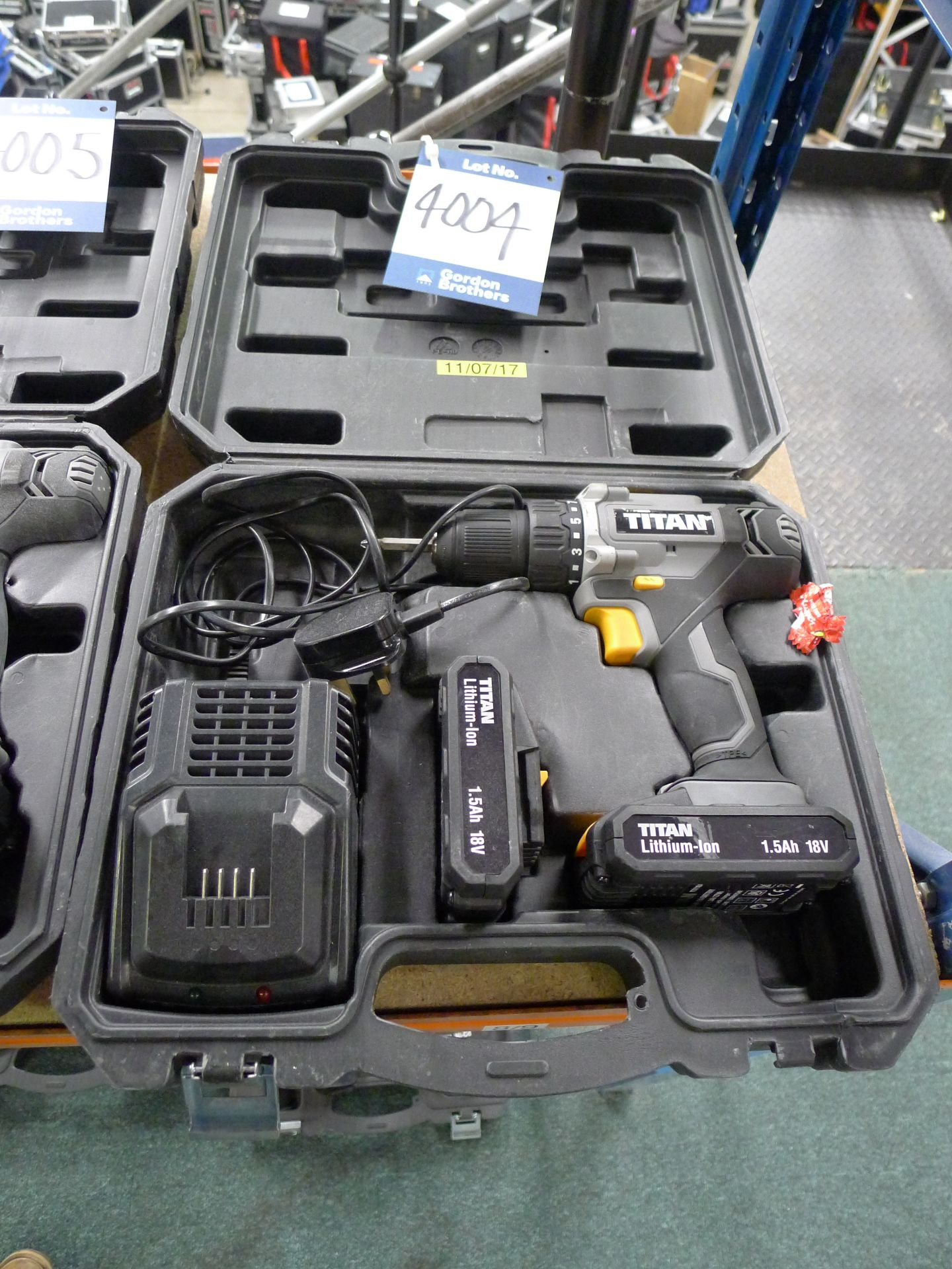 Lot 4004 - Titan 18 V Drill Driver with Charger and Spare Bat