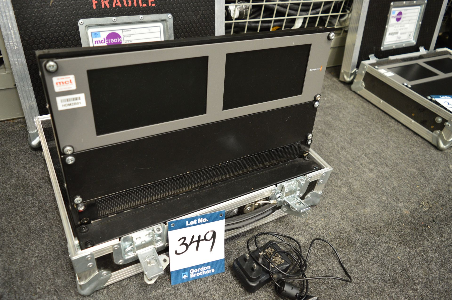 "Lot 349 - Black Magic Design, Smart View HD 17"" SDI monitor,"