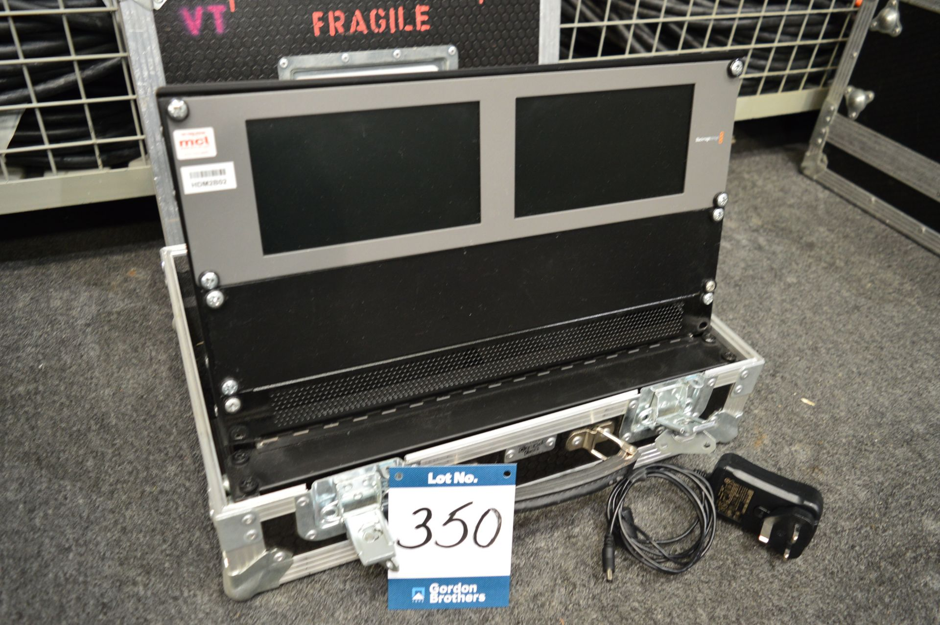 "Lot 350 - Black Magic Design, Smart View HD 17"" SDI monitor,"