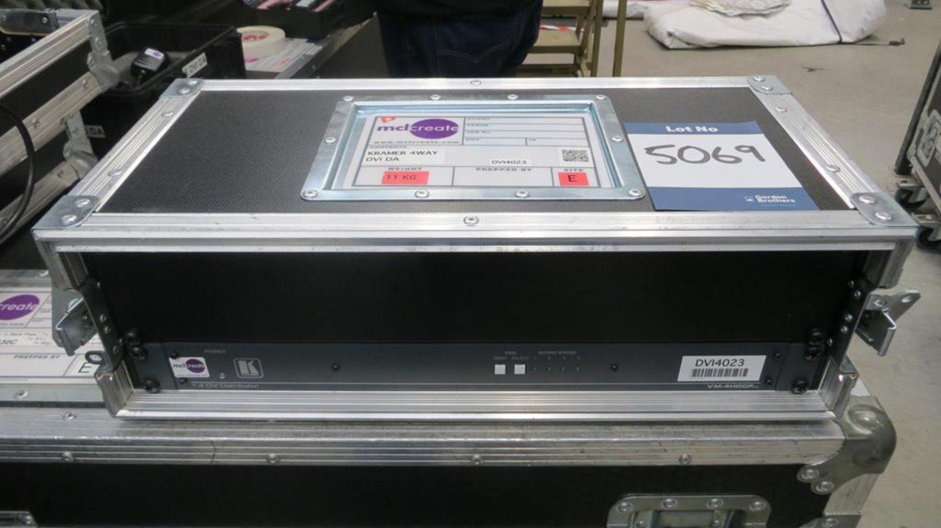 Lot 5069 - Kramer Model VM4HDCP XL DVI splitter, input 4 outp