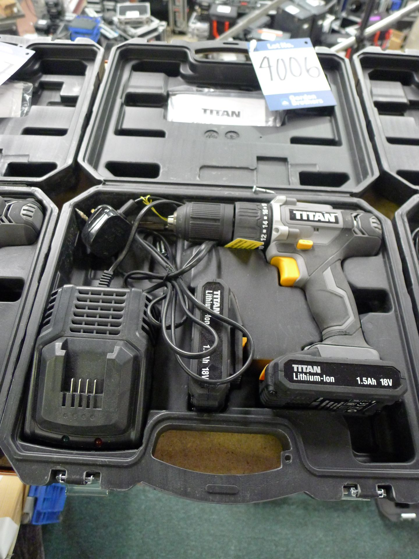 Lot 4006 - Titan 18 V Drill Driver with Charger and Spare Bat