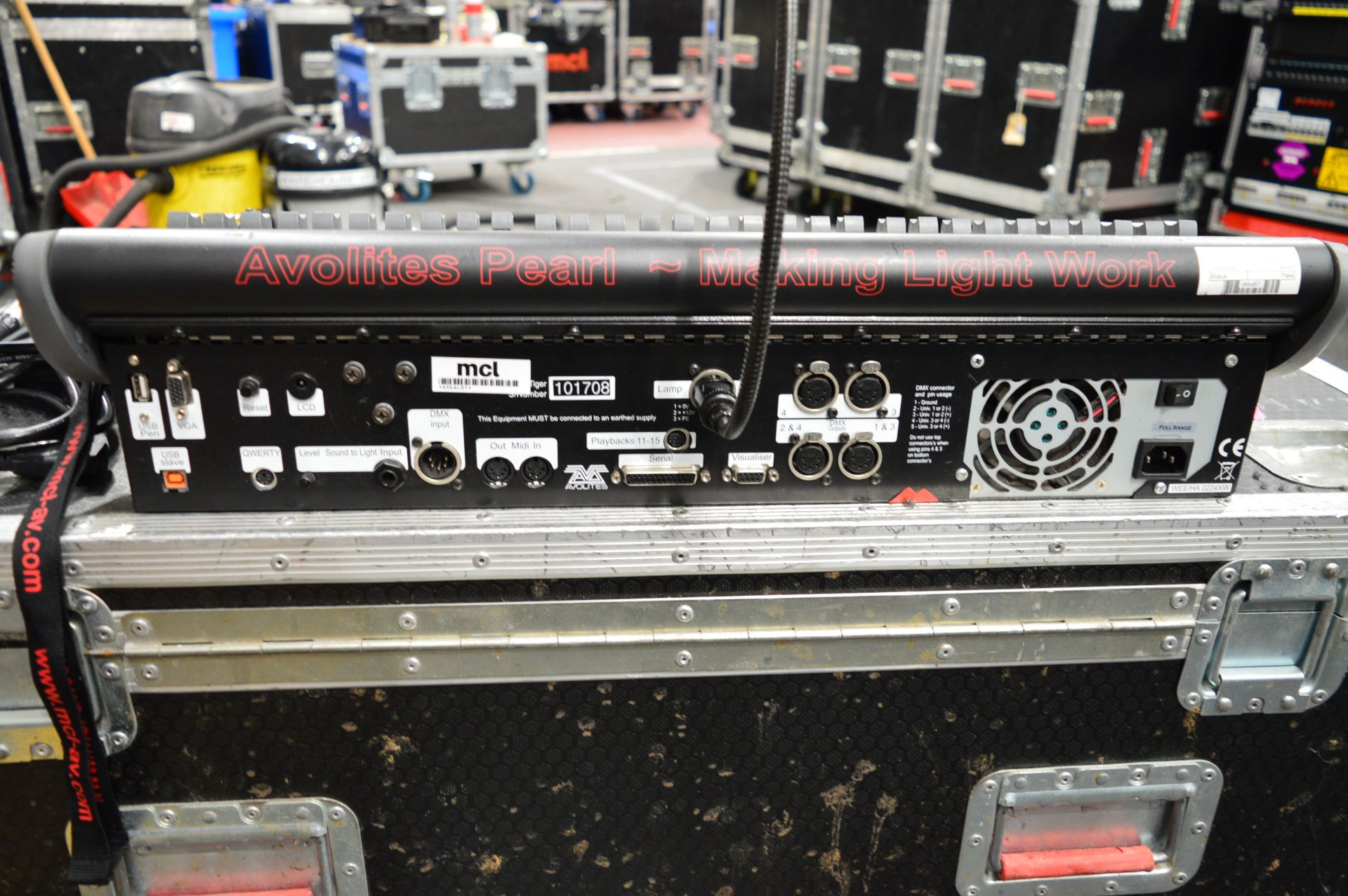 Lot 1036 - Avolites, Pear Tiger lighting console controller,
