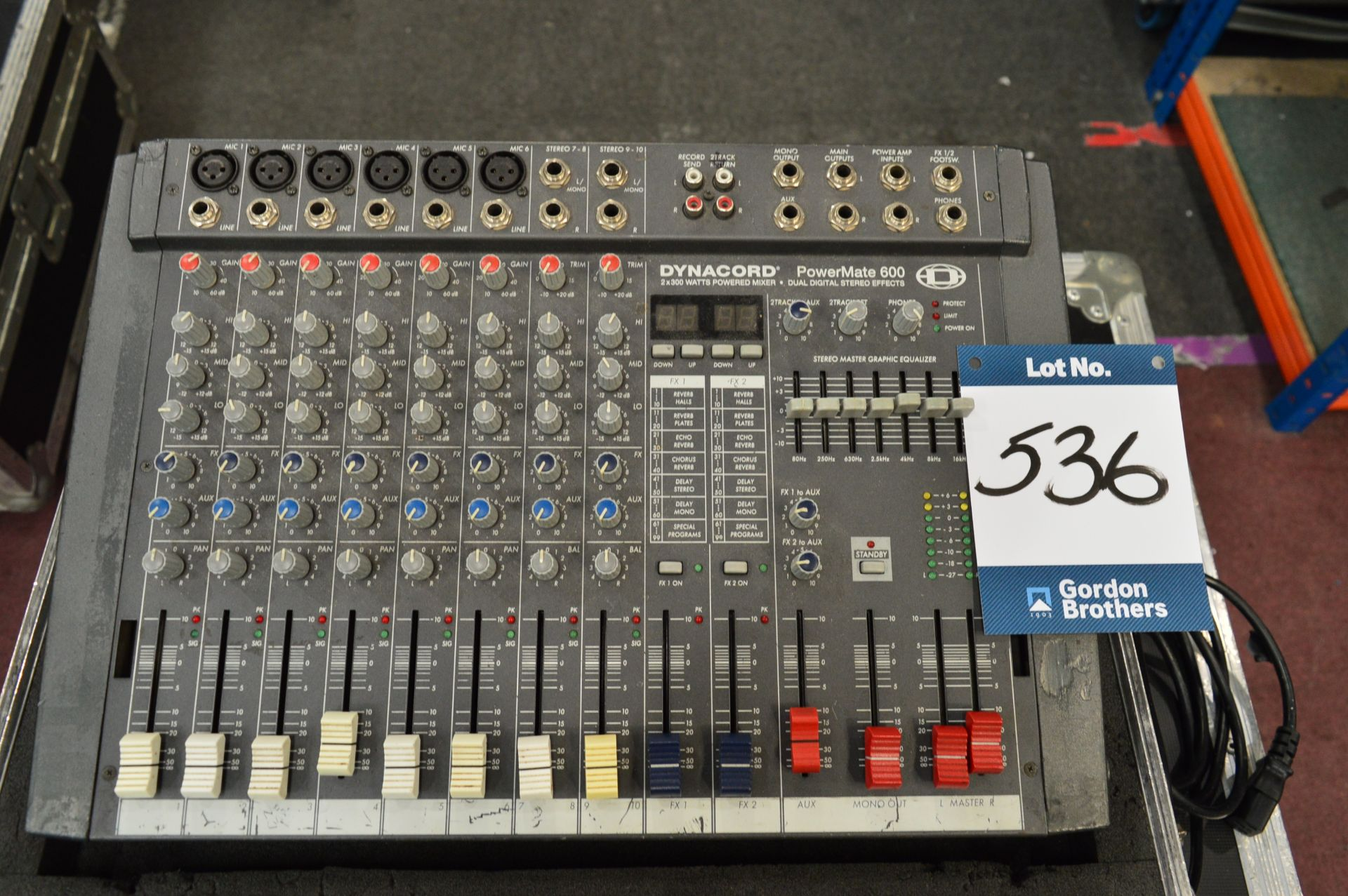 Lot 536 - Dynacord, Powermate 600 2x 300w eight channel comp