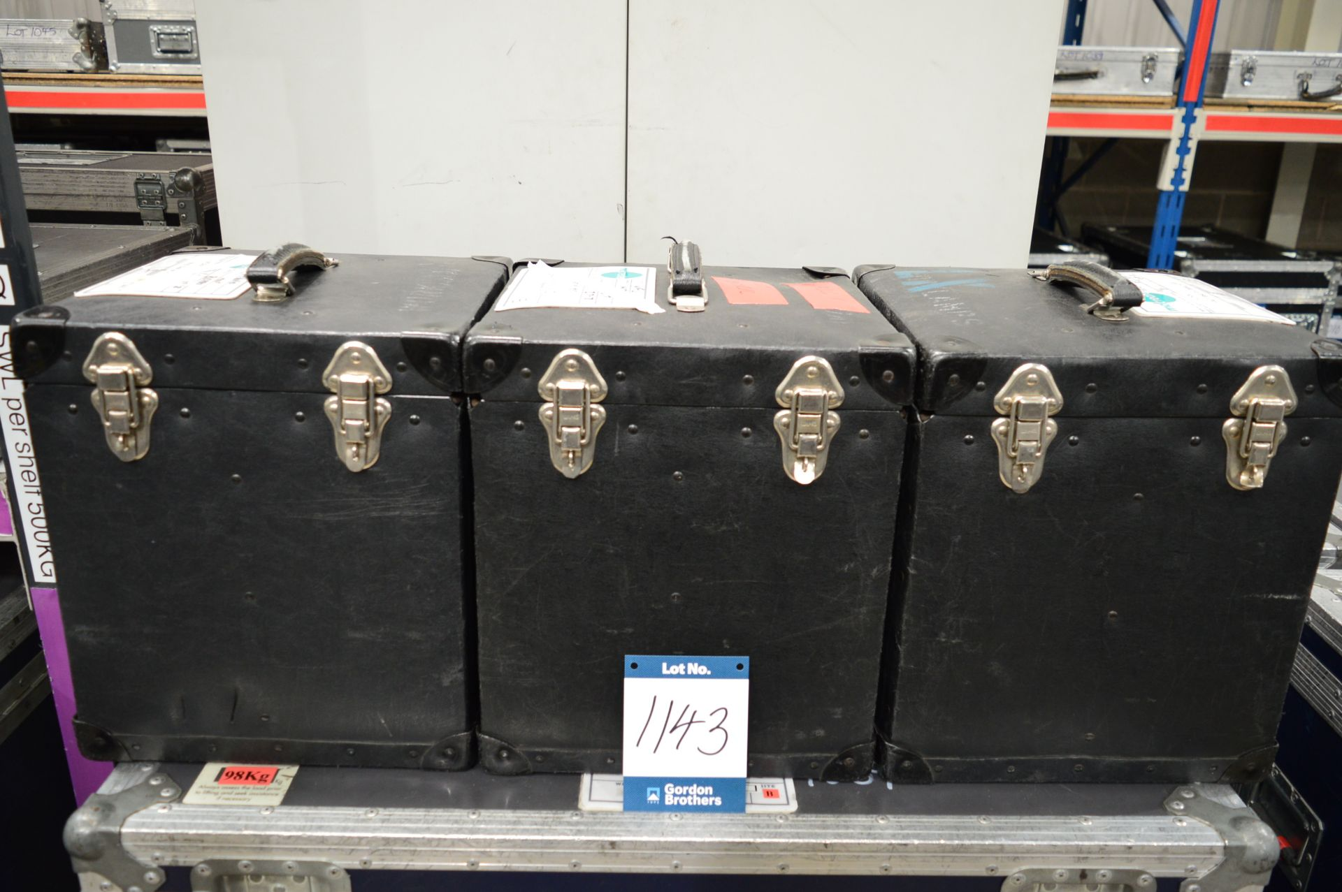 Lot 1143 - 3x No. sets of four gooseneck desk/work lights eac