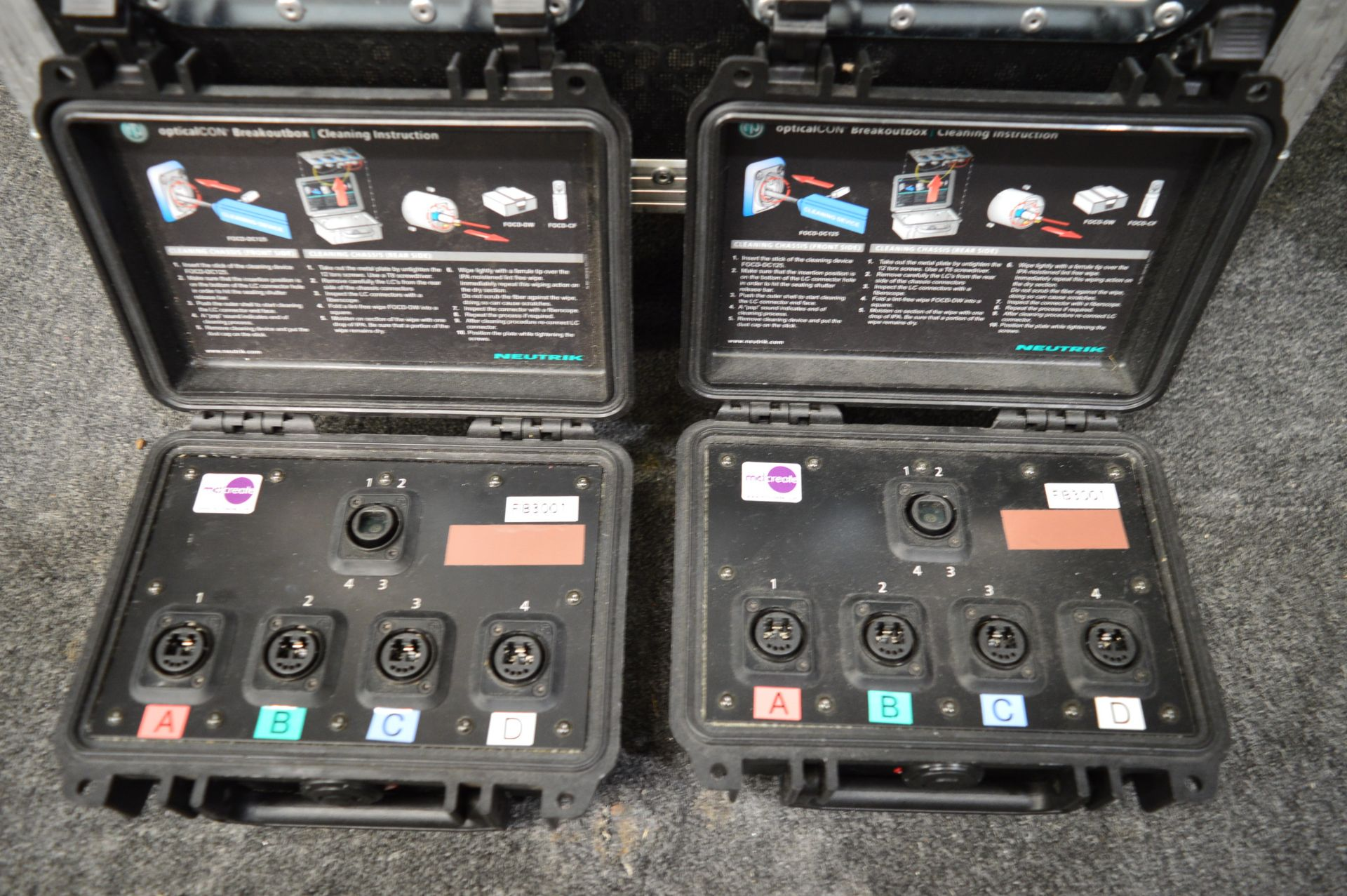 Lot 321 - NuTrek, Optic Alcon fibre optic system comprising