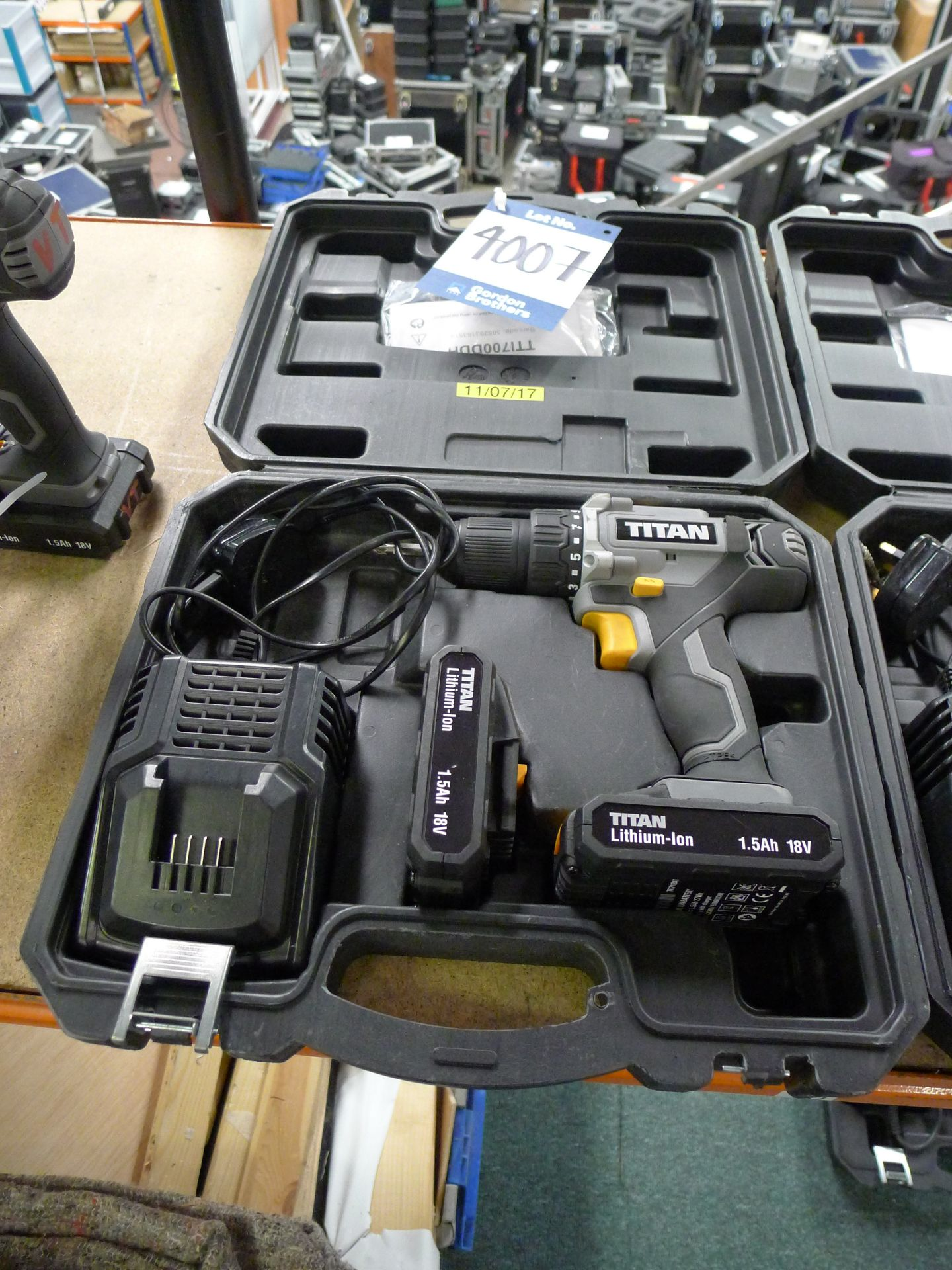 Lot 4007 - Titan 18 V Drill Driver with Charger and Spare Bat