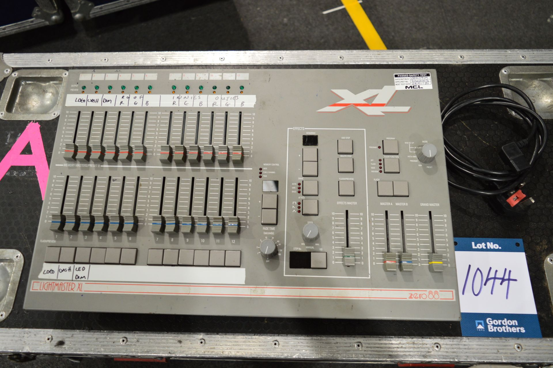Lot 1044 - Zero88, Lightmaster XL lighting console controller