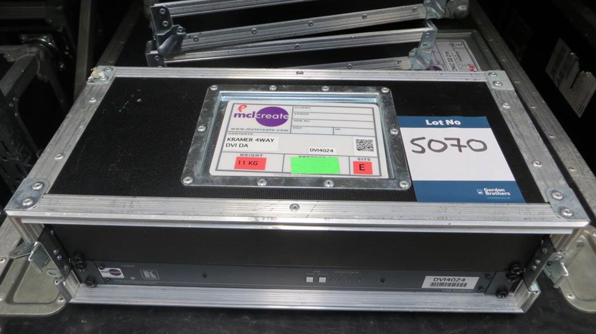 Lot 5070 - Kramer, DVI splitter, input 4 output in transit ca