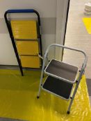 Three tier and two tier steel foldable step ladders