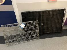 Two foldable pet cages