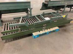 (4) Logan Roller Conveyors w/ (3) Extra Conveyor Line Adjustable Leg Attachments